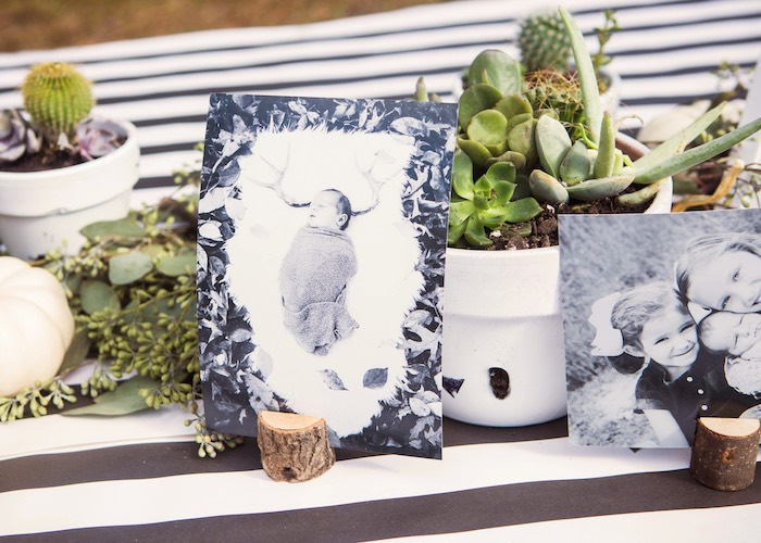 Monochromatic Table + Decor from a Boho Tribal Wild One 1st Birthday Party on Kara's Party Ideas | KarasPartyIdeas.com (23)