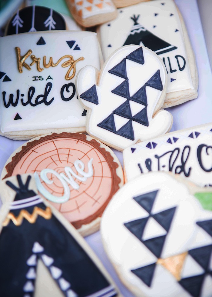 Boho Cookies from a Boho Tribal Wild One 1st Birthday Party on Kara's Party Ideas | KarasPartyIdeas.com (17)