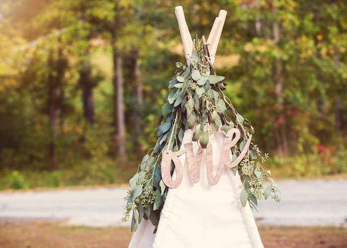 Boho Teepee + Bunting from a Boho Tribal Wild One 1st Birthday Party on Kara's Party Ideas | KarasPartyIdeas.com (32)