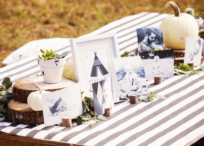 Monochromatic Boho Party Table from a Boho Tribal Wild One 1st Birthday Party on Kara's Party Ideas | KarasPartyIdeas.com (30)