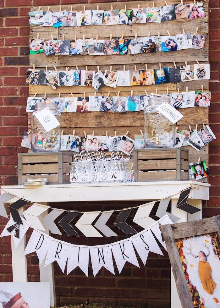 Boho Drink Table from a Boho Tribal Wild One 1st Birthday Party on Kara's Party Ideas | KarasPartyIdeas.com (29)