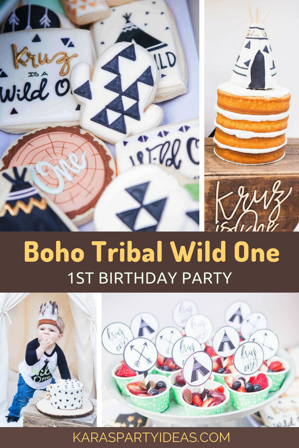 Boho Tribal Wild One 1st Birthday Party via Kara's Party Ideas - KarasPartyIdeas.com
