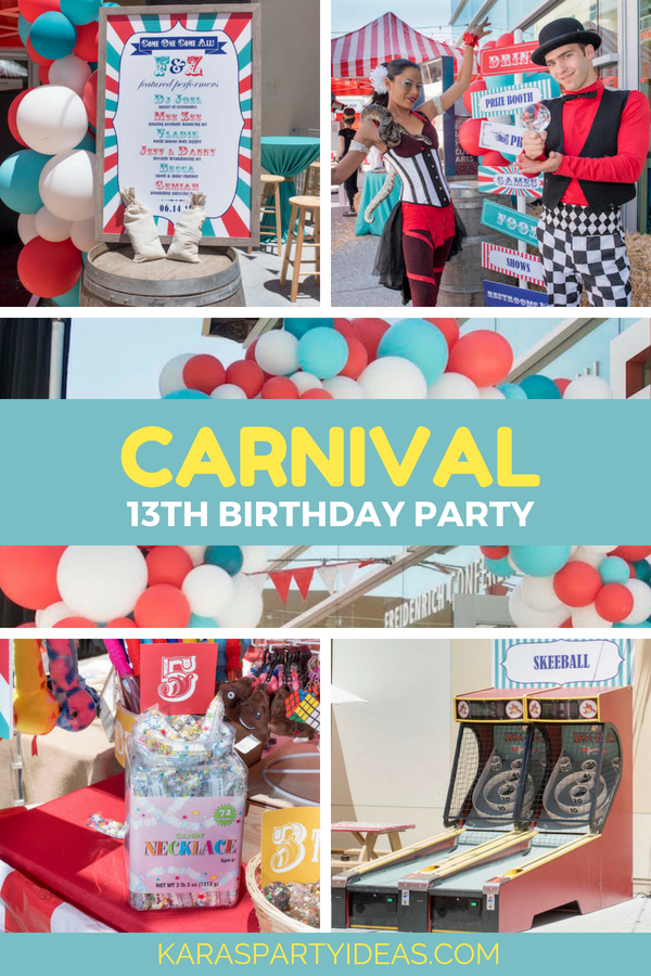 Kara S Party Ideas Carnival 13th Birthday Party Kara S Party Ideas