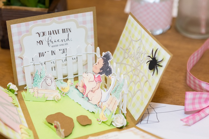 Boxed Invitation from a Charlotte's Web Birthday Party on Kara's Party Ideas | KarasPartyIdeas.com (23)