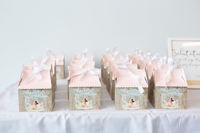 Charlotte's Web Barn-inspired Gift Boxes from a Charlotte's Web Birthday Party on Kara's Party Ideas | KarasPartyIdeas.com (19)