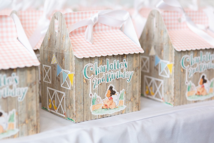 Barn-inspired Gift Box from a Charlotte's Web Birthday Party on Kara's Party Ideas | KarasPartyIdeas.com (18)