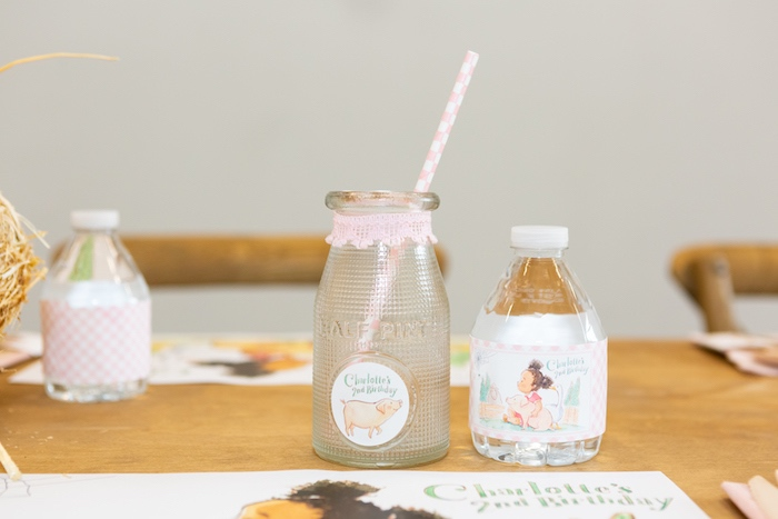 Drinks from a Charlotte's Web Birthday Party on Kara's Party Ideas | KarasPartyIdeas.com (36)
