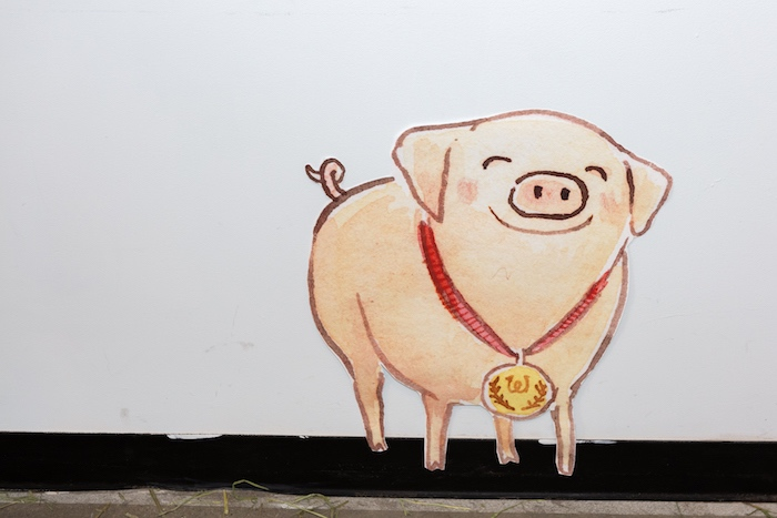 Zuckerman's Famous Pig - Wilbur + Wall Poster from a Charlotte's Web Birthday Party on Kara's Party Ideas | KarasPartyIdeas.com (3)