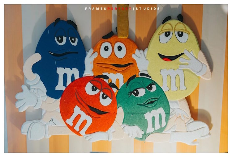 M & M Candy Backdrop from a Chocolate Candyland Birthday Party on Kara's Party Ideas | KarasPartyIdeas.com (7)