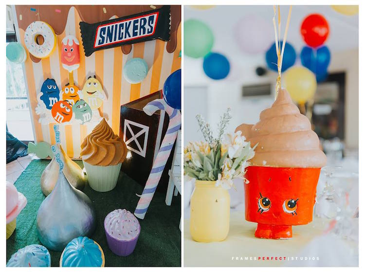 Centerpieces + Decor from a Chocolate Candyland Birthday Party on Kara's Party Ideas | KarasPartyIdeas.com (6)