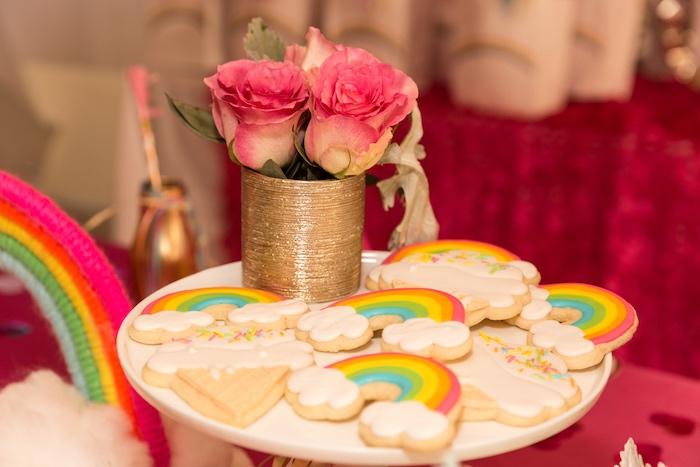 Rainbow Cookies from a Confetti Rainbow Birthday Party on Kara's Party Ideas | KarasPartyIdeas.com (14)