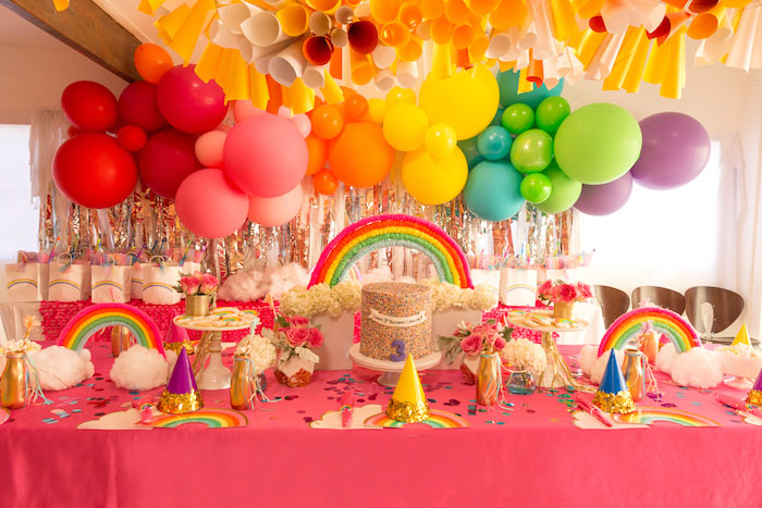 Confetti Rainbow Birthday Party on Kara's Party Ideas | KarasPartyIdeas.com (5)