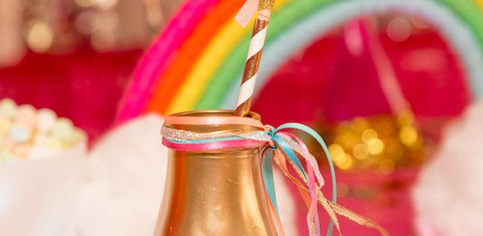 Confetti Rainbow Birthday Party on Kara's Party Ideas | KarasPartyIdeas.com (1)