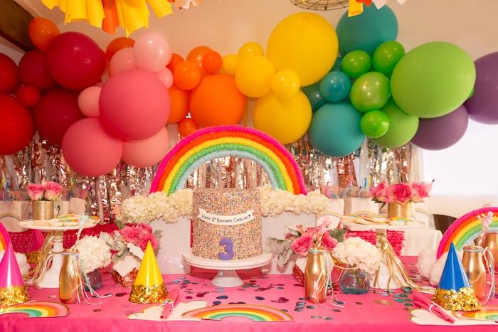 Confetti Rainbow Birthday Party on Kara's Party Ideas | KarasPartyIdeas.com (16)