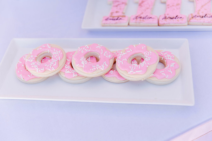 Donut Cookies from a Donut Grow Up 1st Birthday Party on Kara's Party Ideas | KarasPartyIdeas.com (13)