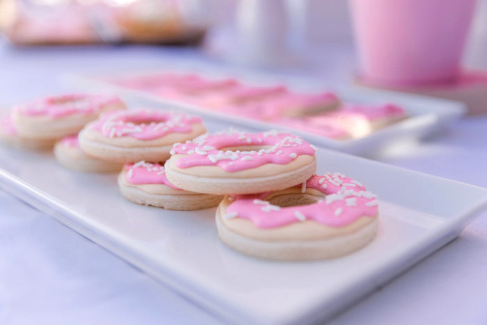 Donut Cookies from a Donut Grow Up 1st Birthday Party on Kara's Party Ideas | KarasPartyIdeas.com (8)