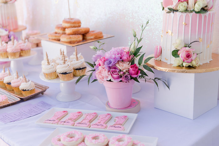 Donut Themed Sweet Table from a Donut Grow Up 1st Birthday Party on Kara's Party Ideas | KarasPartyIdeas.com (7)