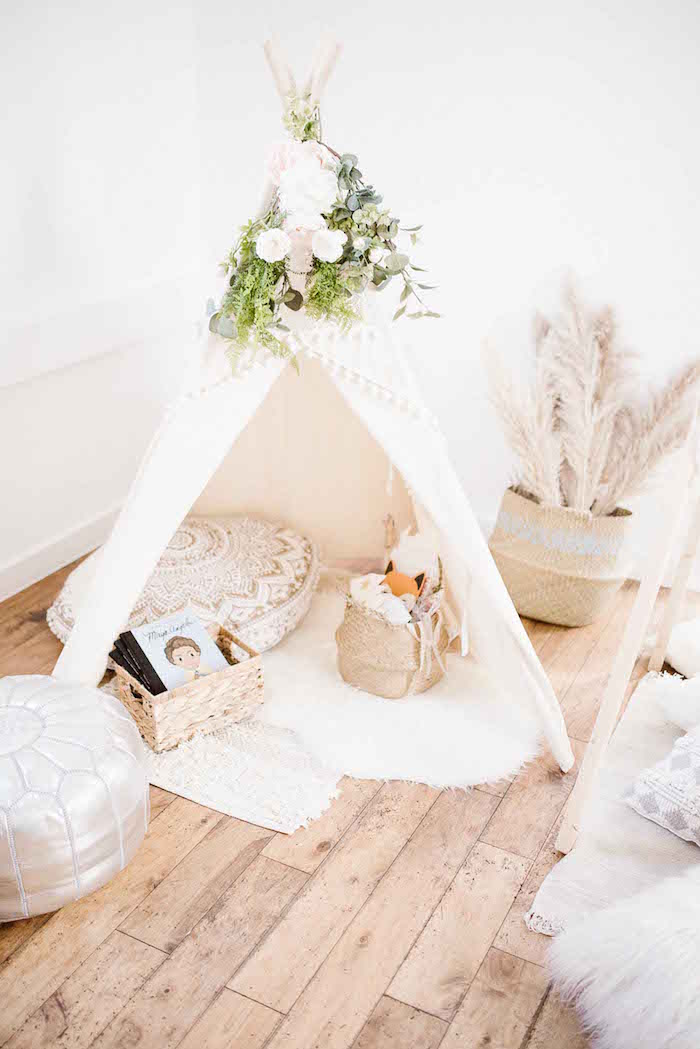 Boho Teepee Tent from a Dreamy Bohemian Party for Kids on Kara's Party Ideas | KarasPartyIdeas.com (18)