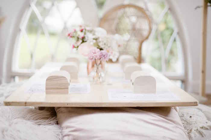 Wooden Treasure Box Table Settings from a Dreamy Bohemian Party for Kids on Kara's Party Ideas | KarasPartyIdeas.com (7)