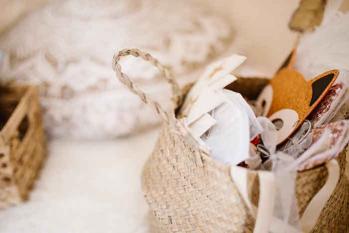 Weaved Basket from a Dreamy Bohemian Party for Kids on Kara's Party Ideas | KarasPartyIdeas.com (25)