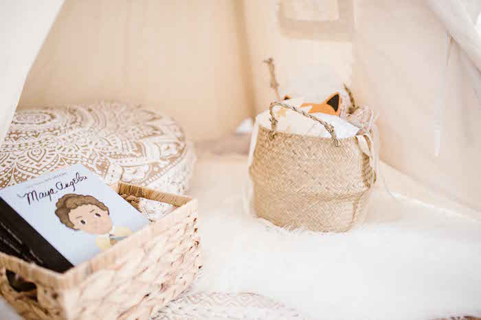 Boho Tent Lounge from a Dreamy Bohemian Party for Kids on Kara's Party Ideas | KarasPartyIdeas.com (24)