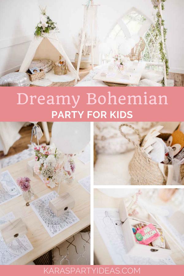 Dreamy Bohemian Party for Kids via Kara's Party Ideas - KarasPartyIdeas.com