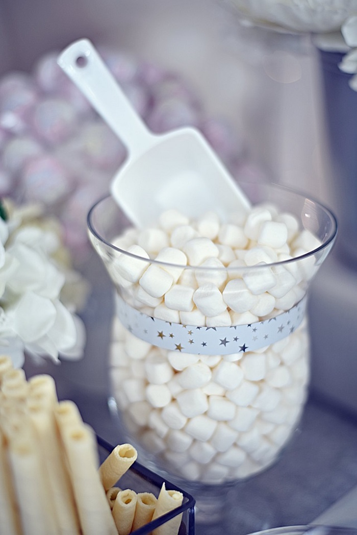 White Buttermints from an Elegant White Baptism Party on Kara's Party Ideas | KarasPartyIdeas.com (7)