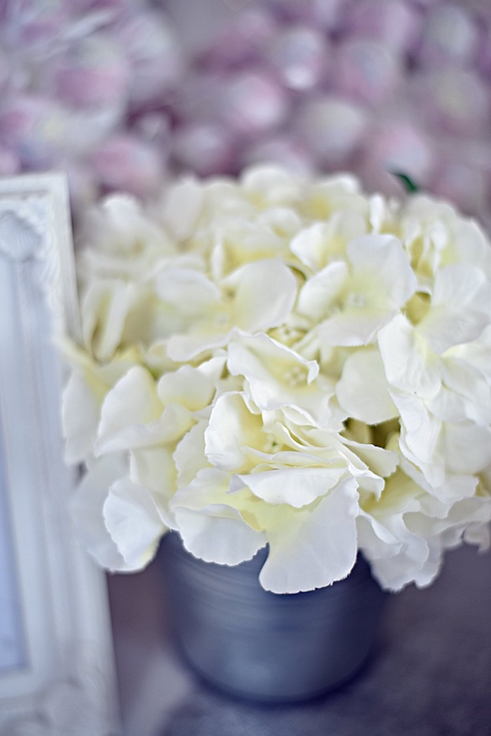 White Blooms from an Elegant White Baptism Party on Kara's Party Ideas | KarasPartyIdeas.com (6)