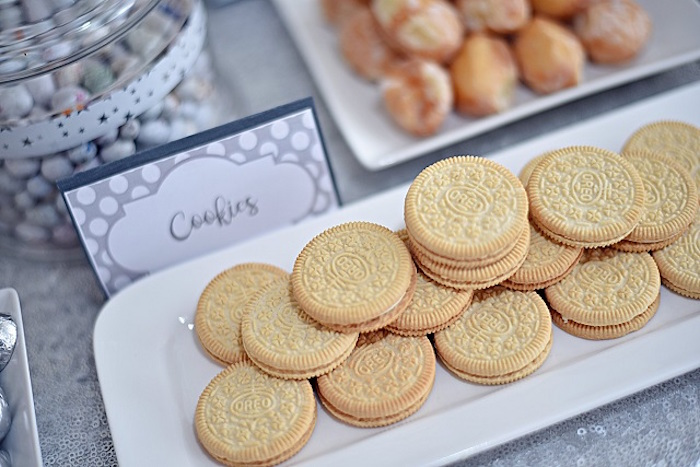 Cookies from an Elegant White Baptism Party on Kara's Party Ideas | KarasPartyIdeas.com (4)