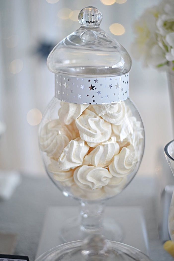 Meringues from an Elegant White Baptism Party on Kara's Party Ideas | KarasPartyIdeas.com (9)