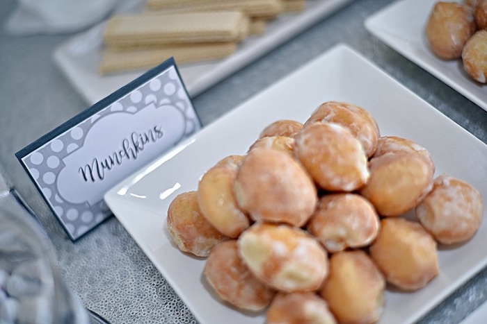 Munchkin Donuts from an Elegant White Baptism Party on Kara's Party Ideas | KarasPartyIdeas.com (8)