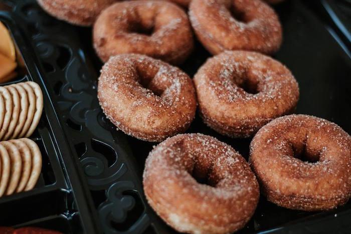 Sugar Doughnuts from a Fall + Halloween Birthday Party on Kara's Party Ideas | KarasPartyIdeas.com (7)