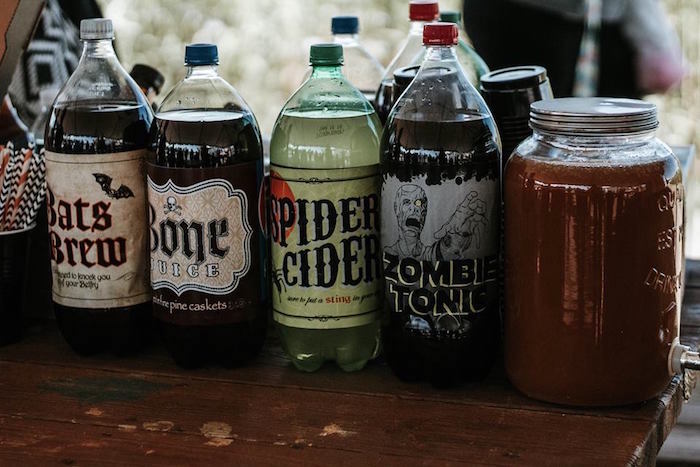 Halloween Drinks + Labels from a Fall + Halloween Birthday Party on Kara's Party Ideas | KarasPartyIdeas.com (13)