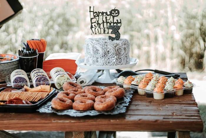 Halloween Dessert Table from a Fall + Halloween Birthday Party on Kara's Party Ideas | KarasPartyIdeas.com (11)