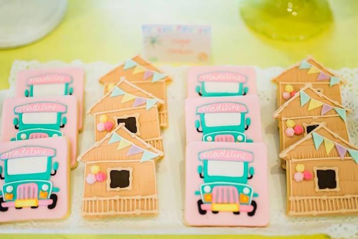 Filipino Huts & Jeepney Cookies from a Filipino Fiesta Birthday Party on Kara's Party Ideas   KarasPartyIdeas.com (15)