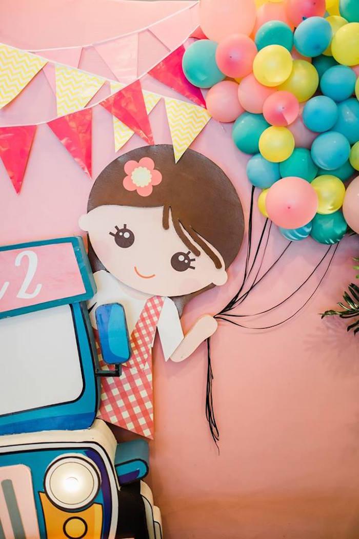 Filipino Girl Party Backdrop from a Filipino Fiesta Birthday Party on Kara's Party Ideas   KarasPartyIdeas.com (7)