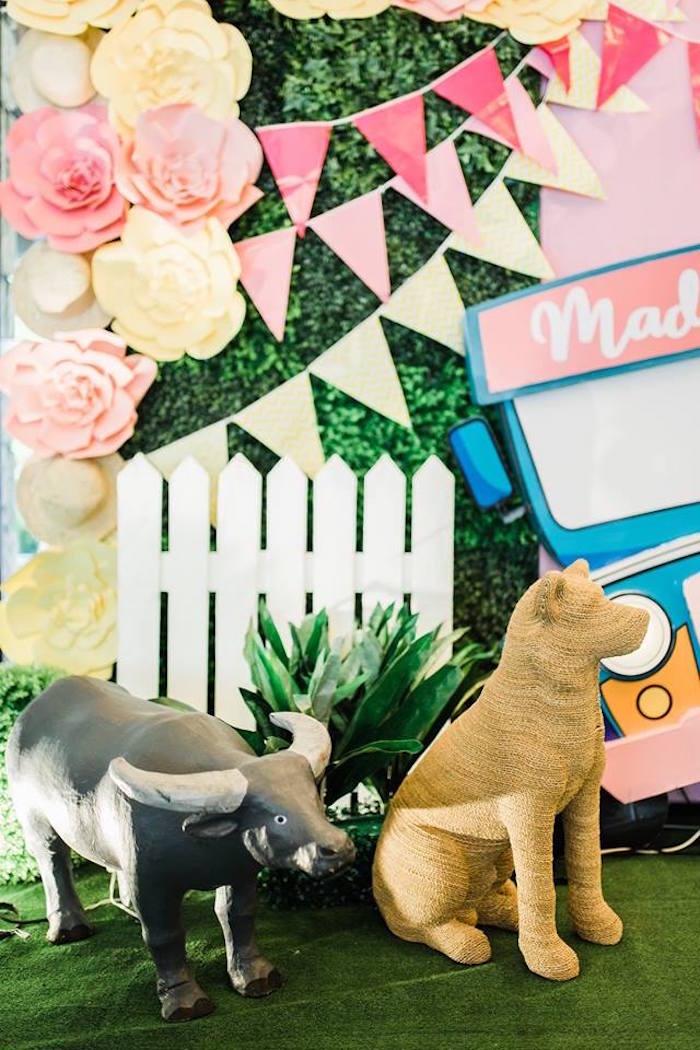 Bull & Dog Props from a Filipino Fiesta Birthday Party on Kara's Party Ideas   KarasPartyIdeas.com (24)