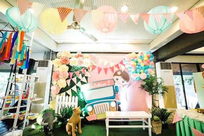 Filipino-inspired Party Backdrop from a Filipino Fiesta Birthday Party on Kara's Party Ideas   KarasPartyIdeas.com (5)