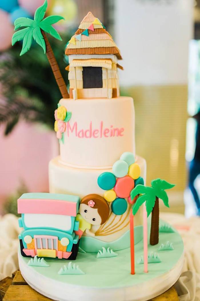 Filipino-inspired Birthday Cake from a Filipino Fiesta Birthday Party on Kara's Party Ideas   KarasPartyIdeas.com (17)