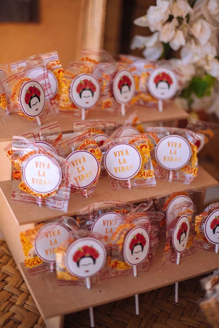 Lollipops from a Frida Kahlo Inspired Birthday Fiesta on Kara's Party Ideas | KarasPartyIdeas.com (21)