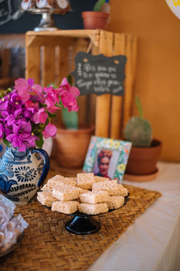 Rice Krispies from a Frida Kahlo Inspired Birthday Fiesta on Kara's Party Ideas | KarasPartyIdeas.com (17)