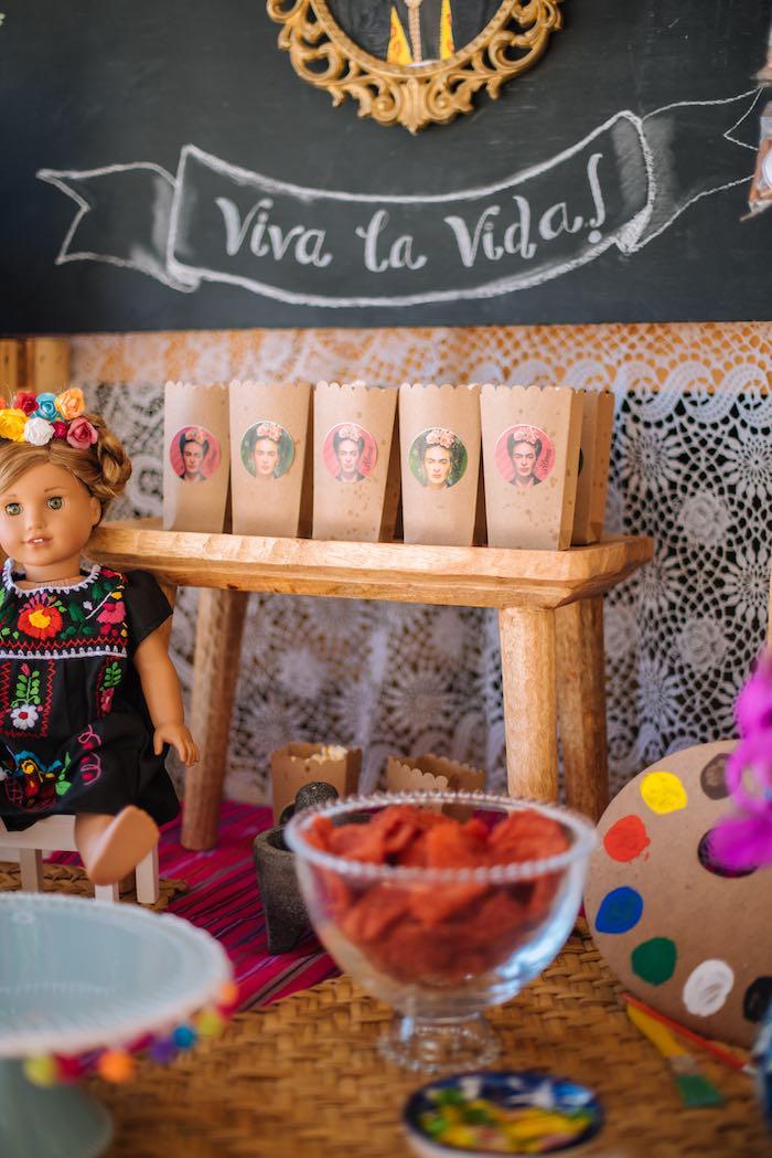 Frida Kahlo Popcorn Boxes from a Frida Kahlo Inspired Birthday Fiesta on Kara's Party Ideas | KarasPartyIdeas.com (15)