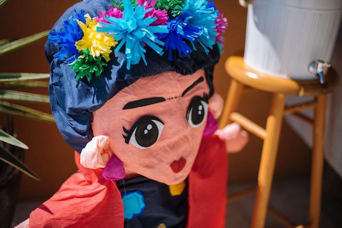 Frida Kahlo Pinata from a Frida Kahlo Inspired Birthday Fiesta on Kara's Party Ideas | KarasPartyIdeas.com (13)