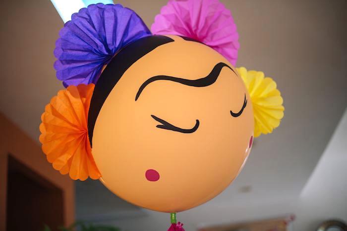 Frida Kahlo-inspired Balloon from a Frida Kahlo Inspired Birthday Fiesta on Kara's Party Ideas | KarasPartyIdeas.com (7)