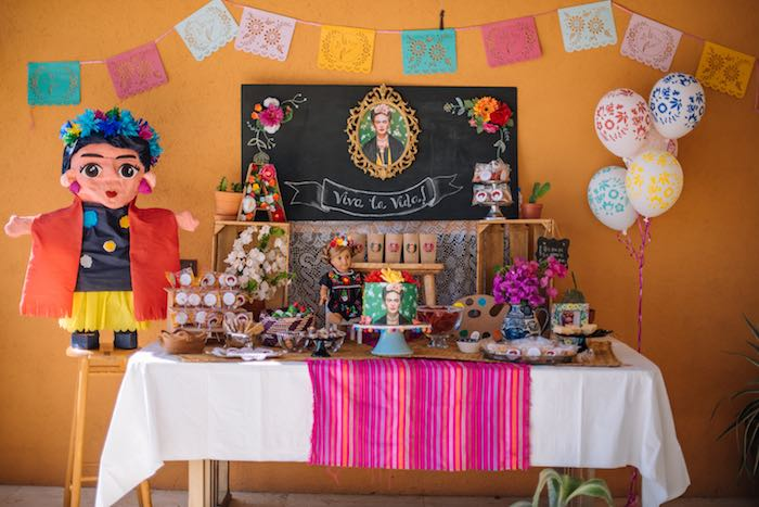 Frida Kahlo Inspired Birthday Fiesta Dessert Table on Kara's Party Ideas | KarasPartyIdeas.com (6)