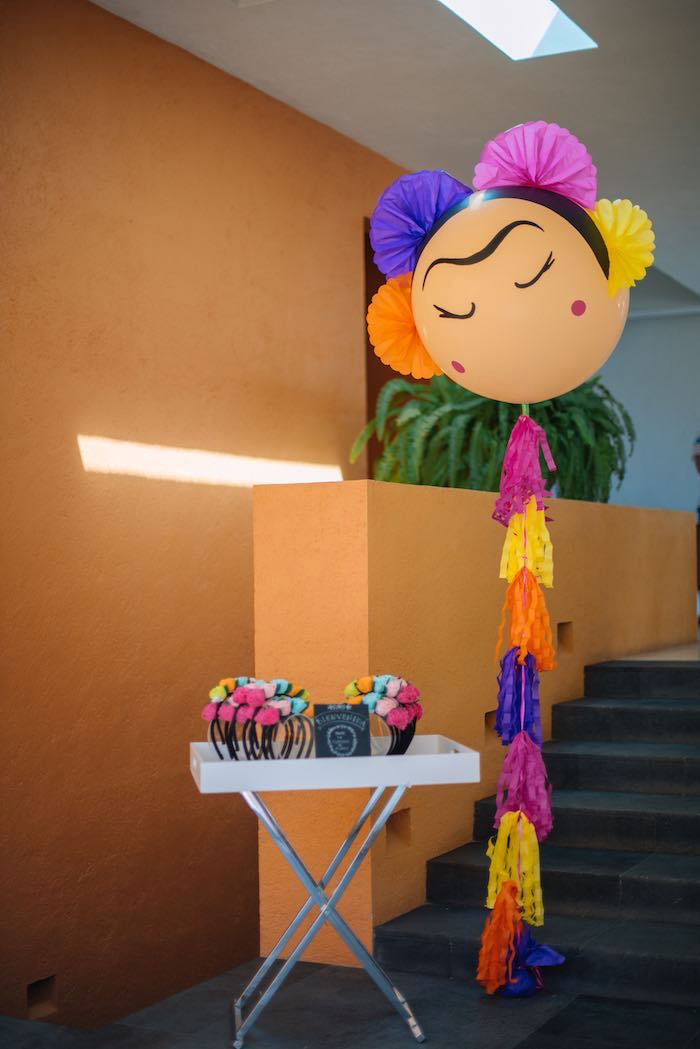 Frida Kahlo-inspired Balloon from a Frida Kahlo Inspired Birthday Fiesta on Kara's Party Ideas | KarasPartyIdeas.com (31)