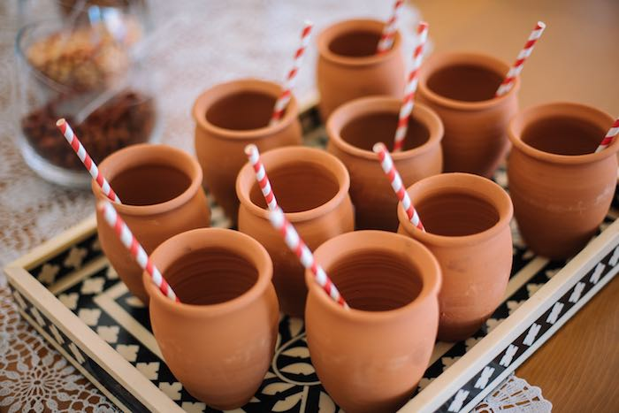 Ceramic Drink Mugs from a Frida Kahlo Inspired Birthday Fiesta on Kara's Party Ideas | KarasPartyIdeas.com (28)