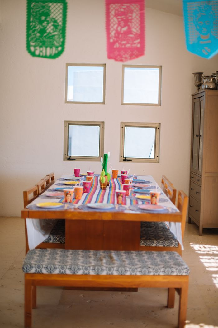 Fiesta Guest Table from a Frida Kahlo Inspired Birthday Fiesta on Kara's Party Ideas | KarasPartyIdeas.com (25)