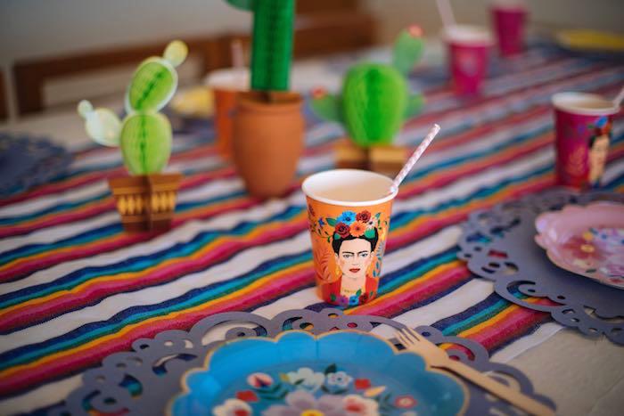 Frida Kahlo Table Setting from a Frida Kahlo Inspired Birthday Fiesta on Kara's Party Ideas | KarasPartyIdeas.com (24)