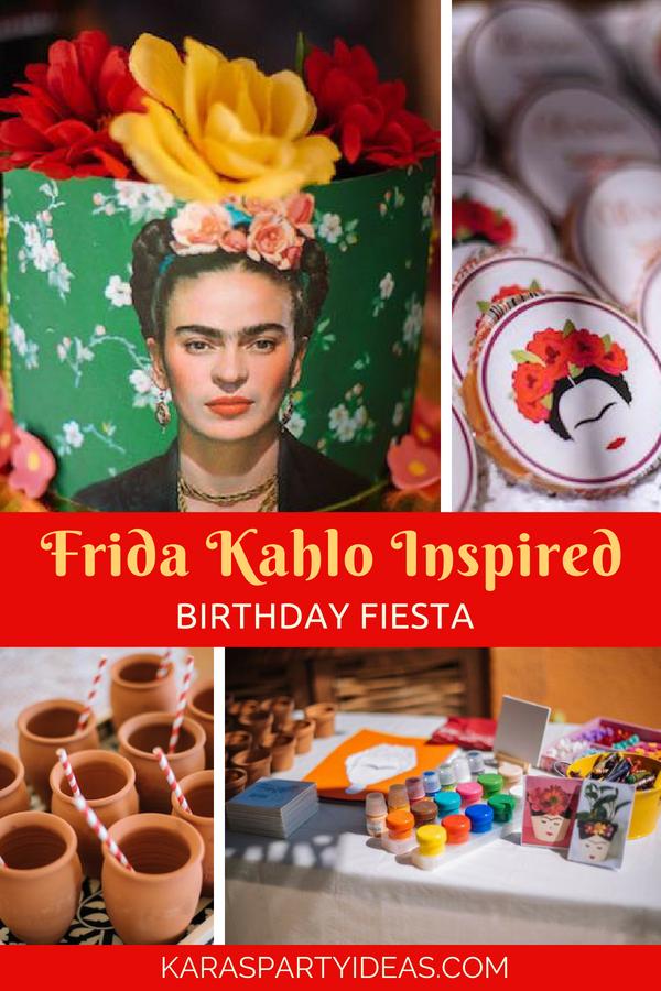 Frida Kahlo Inspired Birthday Fiesta via Kara's Party Ideas - KarasPartyIdeas.com